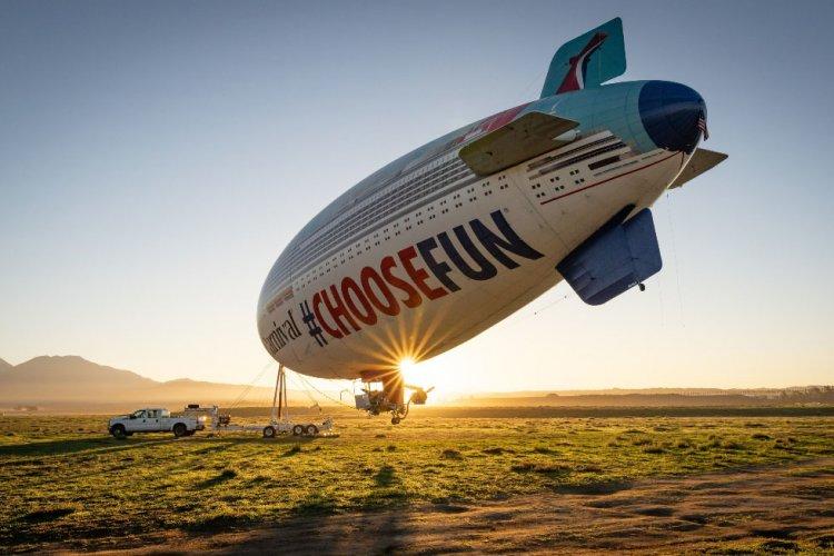 Carnival Cruise AirShip Takes Flight, Kicks Off Month-Long Tour of California
